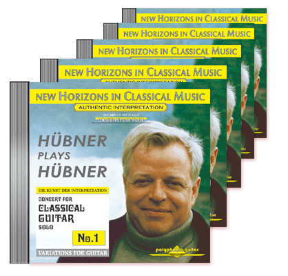 Peter Hübner - Guitar Solo - No. 1 – No. 5 · 5 CDs
